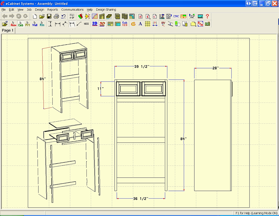 Line Drawing Program : Ecabinet systems software features