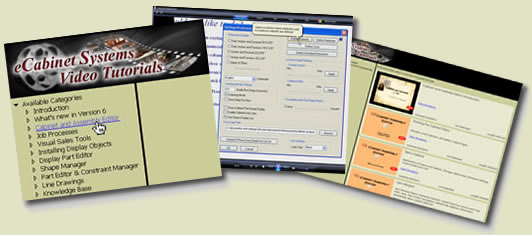 eCabinet Systems Online Training Screens